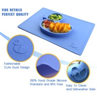 FDA Cute Duck Shaped Silicone Placemat for Children