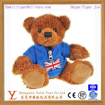 Factory Direc wholesale giant wearing t-shirt teddy bear /plush brown teddy bear