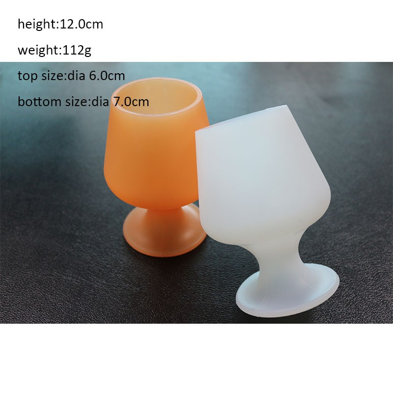 Silicone Wine Glasses Unbreakable Stemmed Beer Glasses Stemless Tumblers Resuable Champagne Glasses