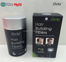 Suppiler Dexe hair building fibers for thin hair, natural keratin hair thickener temporary use
