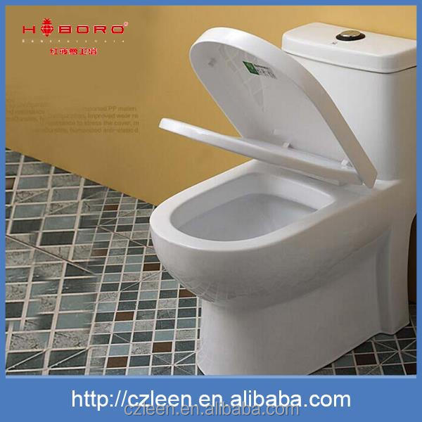 Popular sanitary ware round siphonic ceramic portable pvc toilet