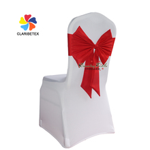 Factory wholesale wedding spandex chair cover with polyester bow tie