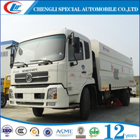 dongfeng 4*2 volume 8cbm vacuum road sweeper truck for sale