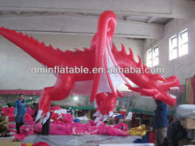 Red dragon inflatable animals for advertising