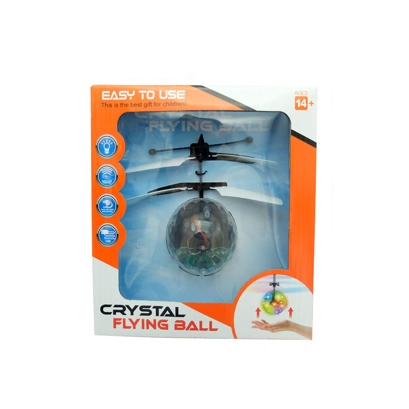Infrared Control Crystal Hover Ball Rotating Ball UFO with LED Flashing Light