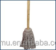 wood handle cotton mop on wholesale
