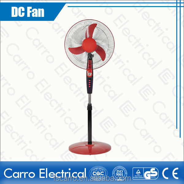 "new design popular 12V 16"" solar stand fan components"