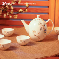 2016 New Chinese Style Afternoon Tea Pot and Cup / High Grade Heat Resistant Hand Painted Tea Pot Set