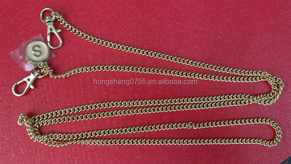 high quality metal handbag chain with lobster clasps,purse chain