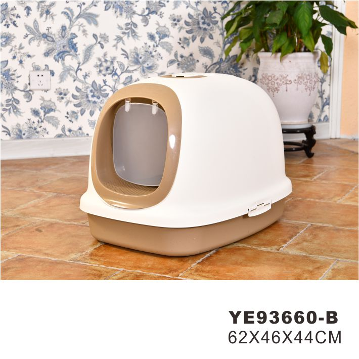 Toilet training cats litter box