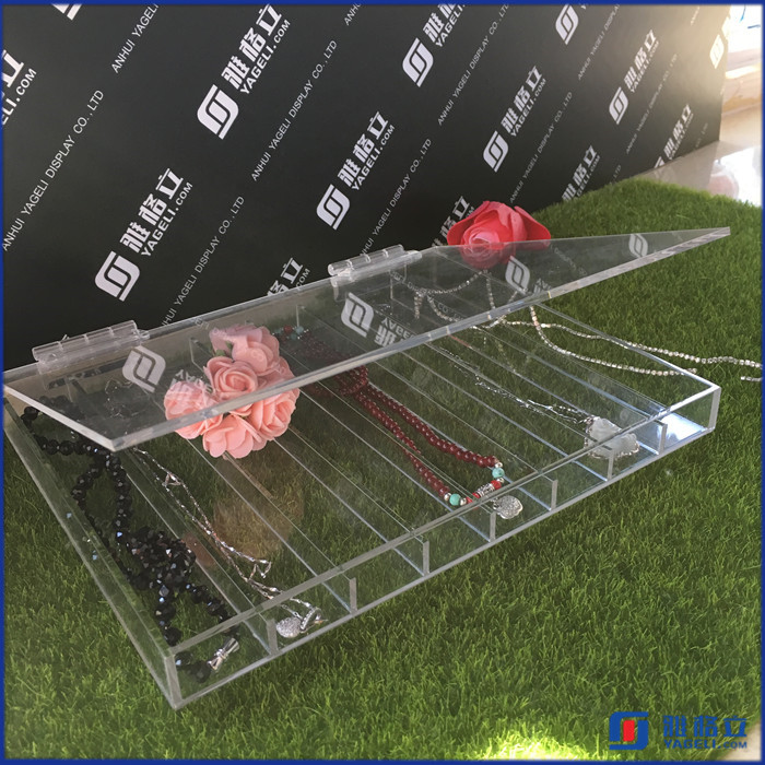 acrylic jewelry display case/rotating acrylic jewelry display stand/Folding Jewelry Display