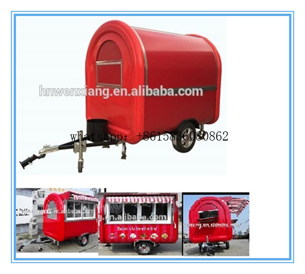 Top quality promotional mobile food cart mobile food trailer /food van/Mobile food cart