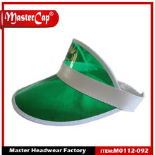 Transparent Plastic sun visor cap with Print Logo