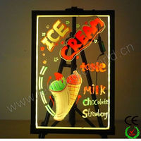 High quality flashing led writing poster board