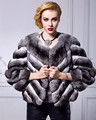 Top Quality Womens Real Chinchilla Fur Coat
