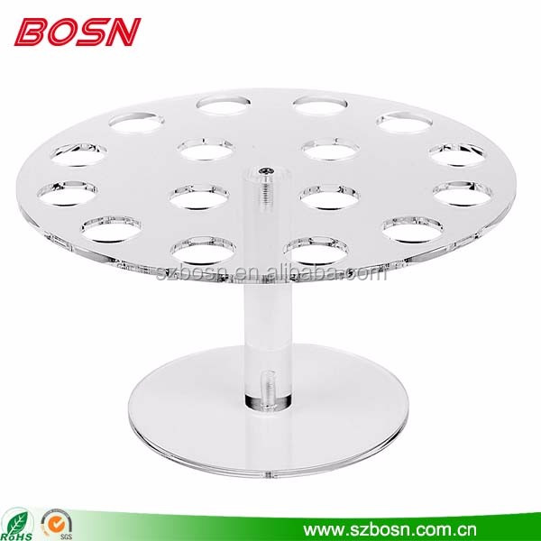 Hot sell round clear acrylic ice cream cone display stand rack for sweetie shop sale