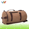 Barrel Pattern Canvas Sports Travel Bag For Mens