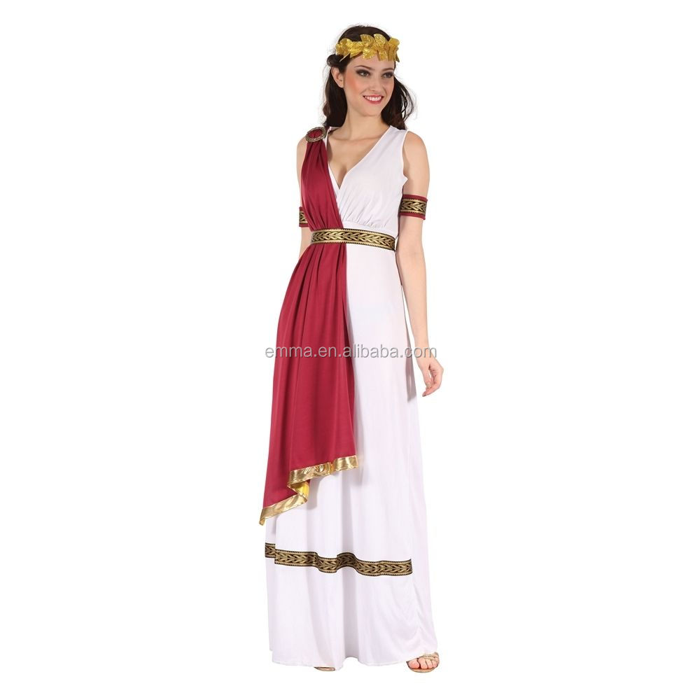 Ladies Greek Goddess Costume - Fancy Dress Party Roman Ancient Toga BW3509