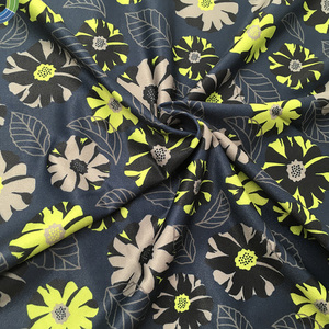 75D Knitted polyester floral printed satin fabric printed muslin fabric