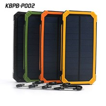 High quality power bank solar panel 12000mah with metal hook for camping