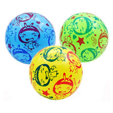 kids baby toys expandable ball small inflatable printed pvc balls