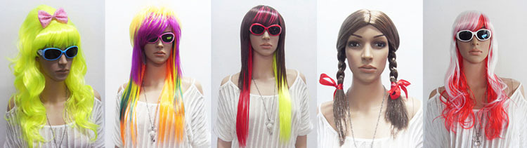 cheap colorful party wig