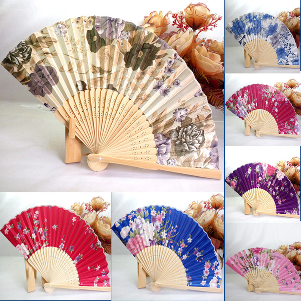 Japanese Cherry Blossom Folding Hand Dancing Wedding Party Decor Fan
