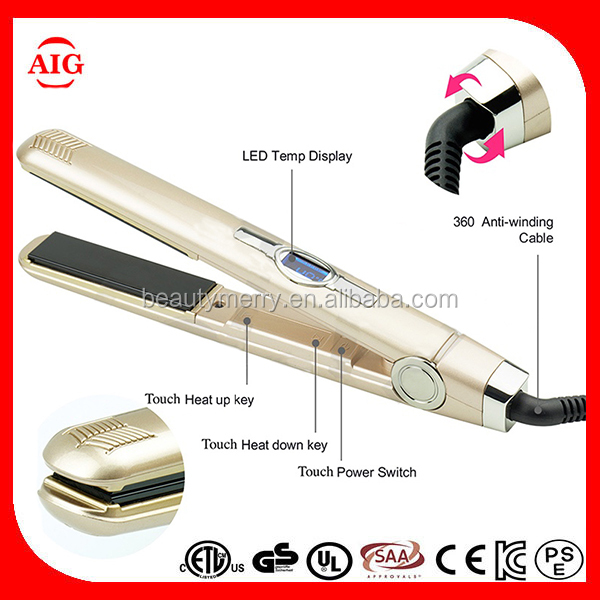 Sensor touch control Ceramic Electric hair flat iron,mini hair iron with car plug ultrasonic infrared hair straightener