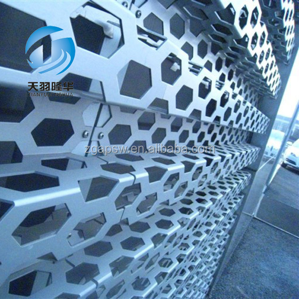 Various artistic styles Perforated Metal Screen Wall