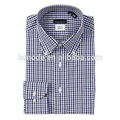 35% cotton button down collar plaid long sleeve men's clothing chinese clothing manufacturers