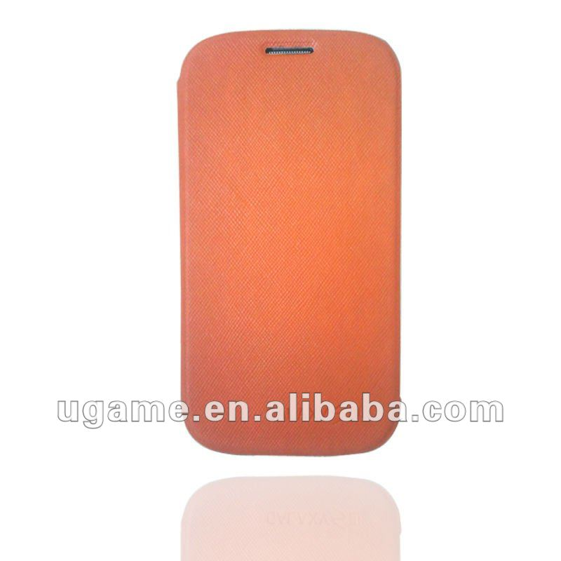 leather brown flip case for samsung galaxy s3 i9300