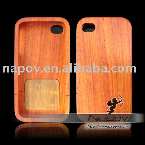 For 4g iphone wooden case (paypal)