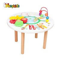 2019 New hottest intelligent game wooden baby activity table with high quality W12D144