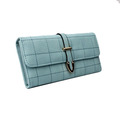 2017 pu leather woman 12slots money clip coin trifold wallet