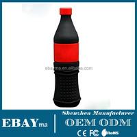 Soft pvc custom personalized gadgets thumb drive designers 4gb coke bottle usb