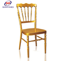 Durable cheap stacking metal wedding napoleon chairs for wholesale