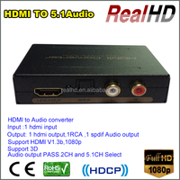 2016 Good Selling HDMI input to HDMI+RCA+SPDIF Audio out Converter in China