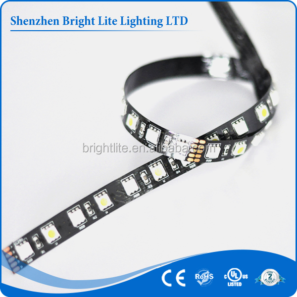 SMD5050 Nonwaterproof IP20 Black PCB 72led 5050 flexible waterproof rgb led strip 24v