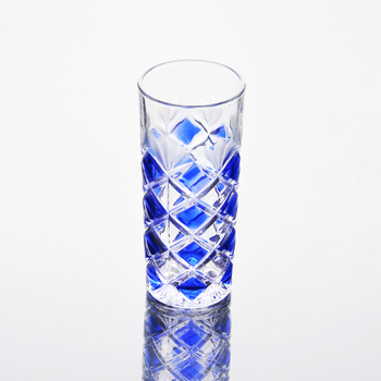 240ml Spray blue color whiskey water glass home decor