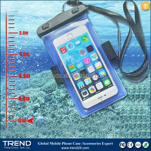 bulk buy from china 5.0~6.0 inch plastic waterproof bag for smartphones