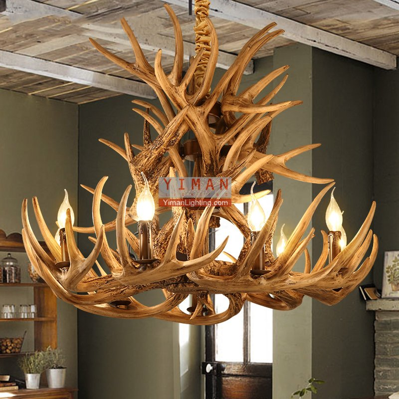 Nordic Unique antler creative design pendant light italian chandelier pendnat lamp industrial vintage decorative pendant light