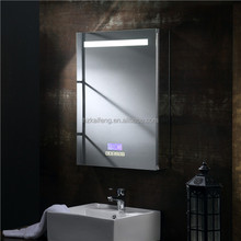 Smart touch sensor switch Led wall mounted fogless shower mirror with suction cups for man's bathroom