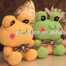 2014 Hot Sell Stuffed Plush Frog /Mascot Custom 15 cm Frog stuffed toy