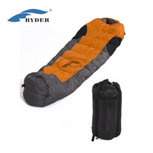 Custom High Quality 3 Season Drawcord Water Resistant Portable Cheap Outdoor Camping Backpack Mummy Sleeping Bag For Sale