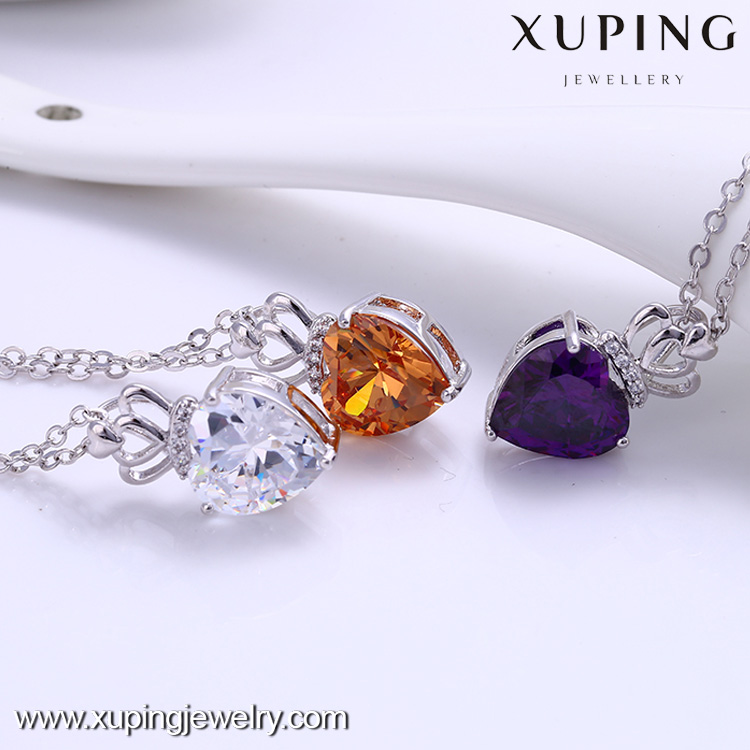 xuping fashion Rhodium color pendant necklace 41839