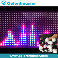 Addressable sound dmx512 control digital 30mm dmx512 rgb led pixel