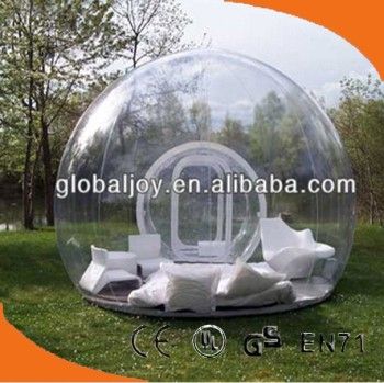 clear inflatable lawn tent/inflatable bubble tent/transparent inflatable tent