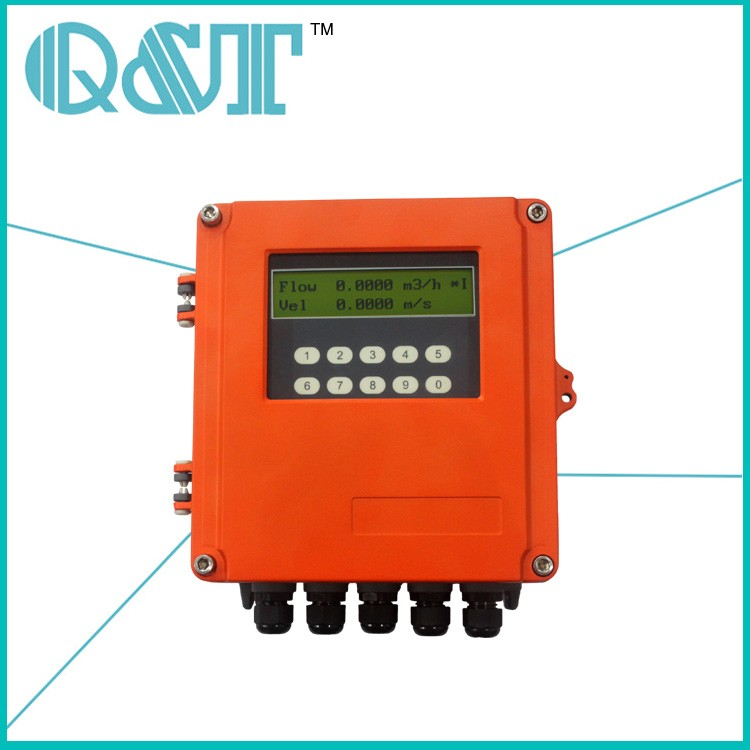 portable case non contact ultrasonic flow meter