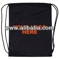Black medium-light printed cotton shoulder bag