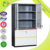 space saving office glass front storage cabinet with 2 drawer